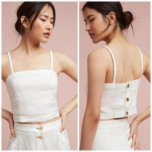 Anthro Akemi & Kin | Riverine button crop top